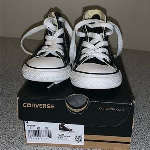 New in Box Converse All Star Black High Tops Sz 6